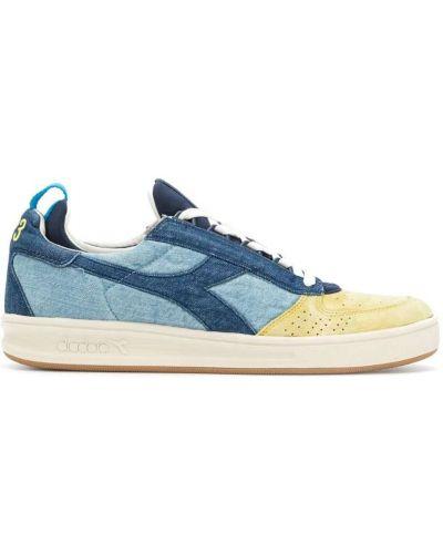 Синие кроссовки замшевые Diadora