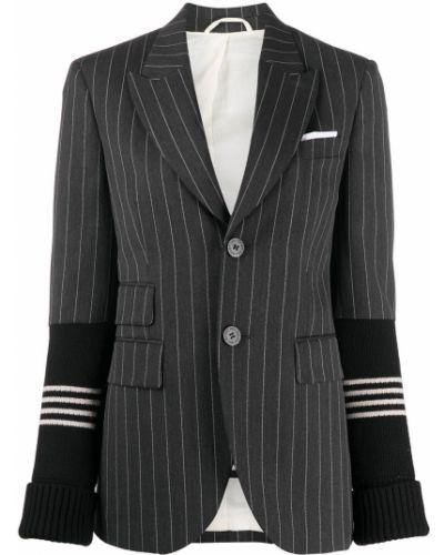 Однобортный серый удлиненный пиджак с карманами Neil Barrett