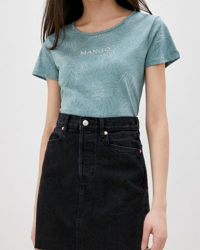 Черная джинсовая юбка Mango