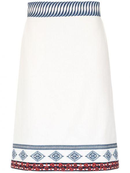 Юбка с вышивкой на молнии с карманами свободного кроя Isolda