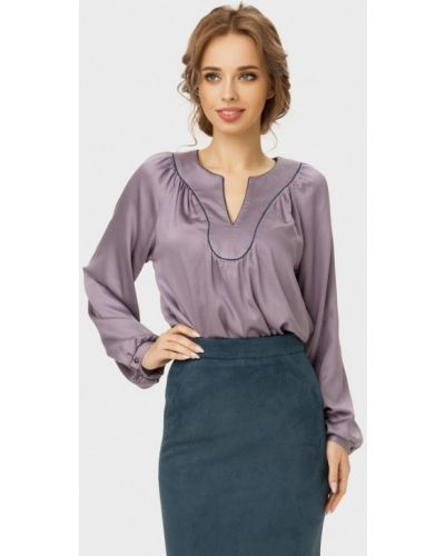 Блузка с длинным рукавом серая Anushka By Anna Pavlova
