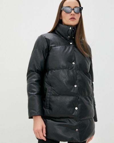 Черная кожаная куртка Tiffosi