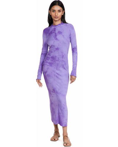 Платье макси с длинными рукавами - фиолетовое Raquel Allegra