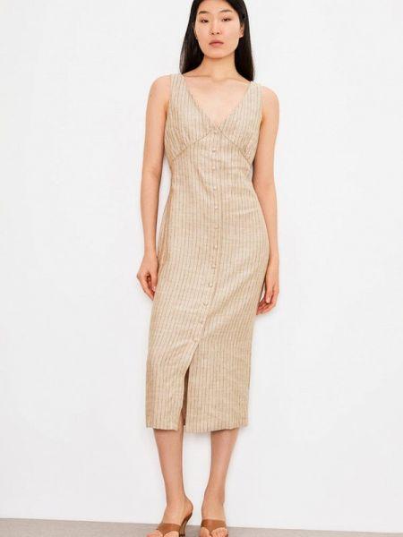 Платье прямое бежевое Lime