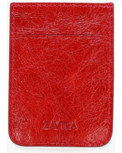Красная визитница Zavtra