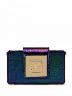 Złota kopertówka - niebieska Dolce And Gabbana