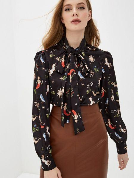 Блузка с бантом черная Fashion.love.story