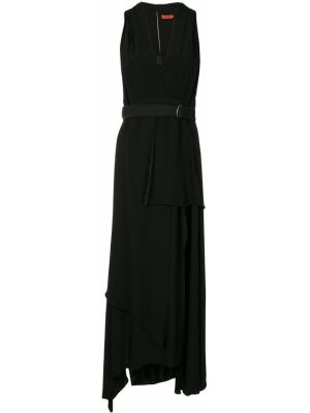 Асимметричное тонкое платье миди с V-образным вырезом без рукавов Manning Cartell