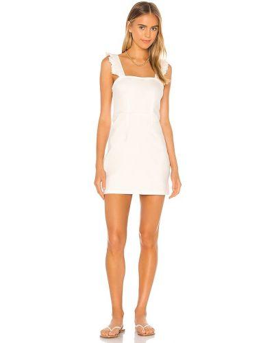 Хлопковое с ремешком белое платье Show Me Your Mumu