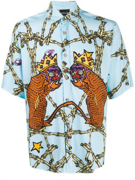 Синяя классическая прямая классическая рубашка с воротником Mauna Kea