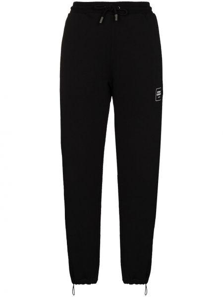 Черные спортивные брюки с нашивками с завязками с поясом Opening Ceremony