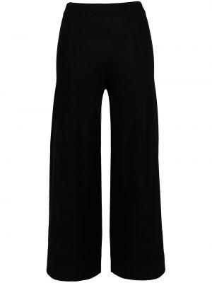 Брючные черные укороченные брюки свободного кроя D.exterior