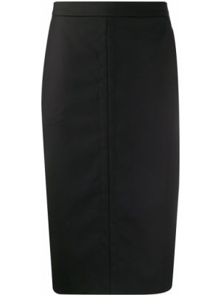 Черная юбка карандаш с карманами с рукавом 3/4 Paul Smith