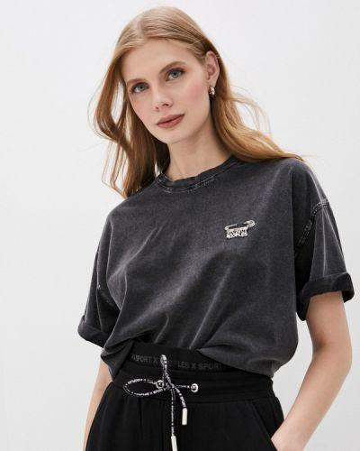 Серая футболка с короткими рукавами The Kooples