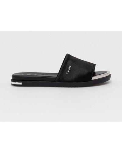 Czarne sandały Dkny