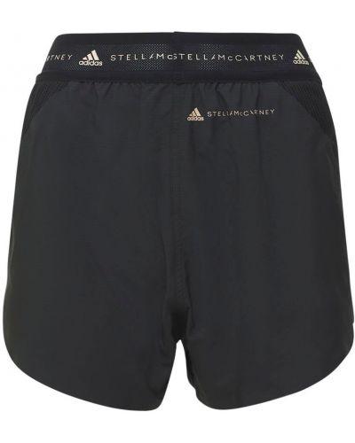 Шорты сетчатые - черные Adidas By Stella Mccartney