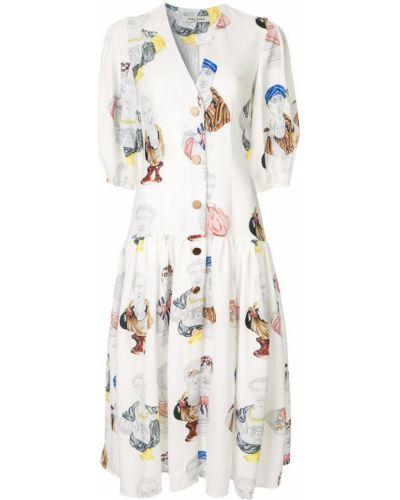 Платье миди на пуговицах расклешенное Tata Naka