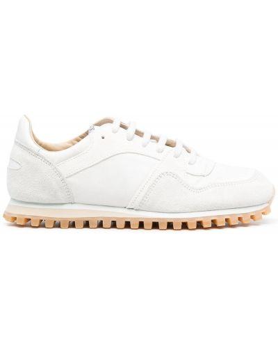 Białe sneakersy skorzane sznurowane Spalwart