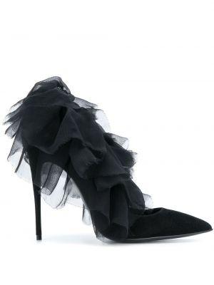 Черные кожаные туфли Maison Ernest