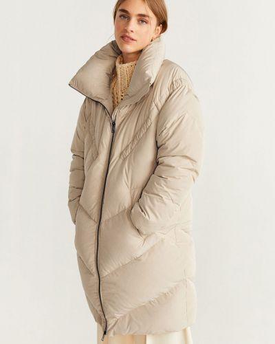 Стеганая куртка укороченная с карманами Mango