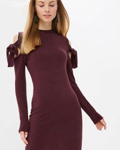 Платье бордовый с открытыми плечами Lost Ink.