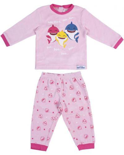 Piżama bawełniana - różowa Baby Shark