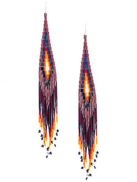 Фиолетовые акриловые серьги с бисером Jessie Western