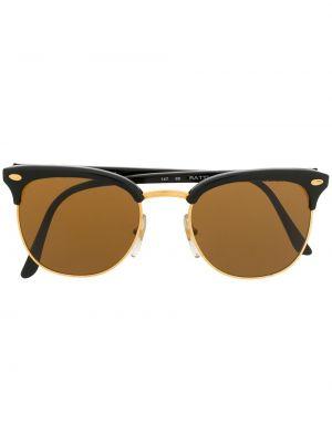 Прямые черные солнцезащитные очки круглые металлические Persol Pre-owned