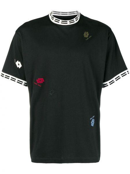 Хлопковая черная футболка Damir Doma