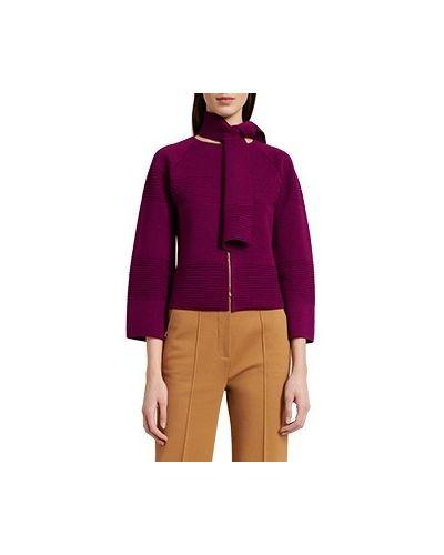 Шерстяной пиджак - фиолетовый Luisa Spagnoli