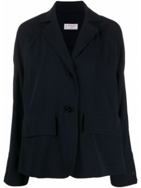 Синий пиджак с карманами с воротником Alberto Biani