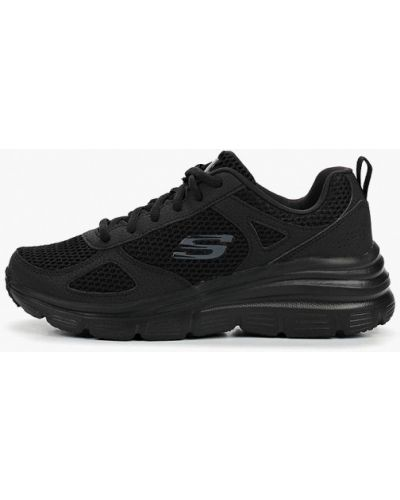 Кроссовки черные низкие Skechers
