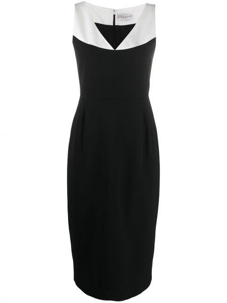 Wyposażone jedwab czarny sukienka bez rękawów Givenchy