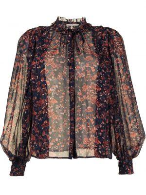 Czarna bluzka z długimi rękawami bawełniana Ulla Johnson