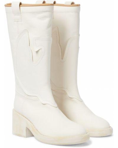 Białe kozaki materiałowe Mm6 Maison Margiela