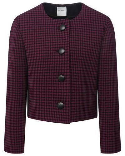 Шерстяной пиджак - красный St. John