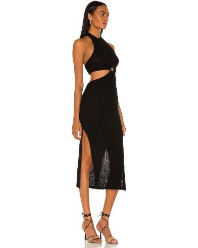 Sukienka midi elegancka - czarna L'academie