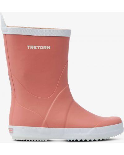 Сапоги на каблуке - розовые Tretorn