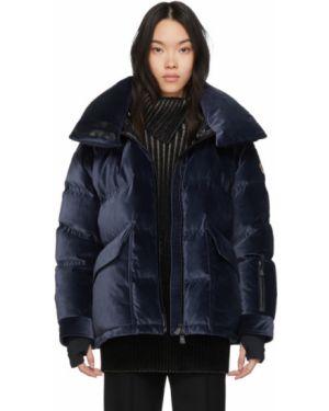 Куртка с капюшоном черная длинная Moncler Grenoble