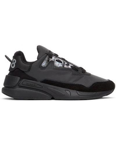 Koronkowa czarny sneakersy na pięcie Diesel