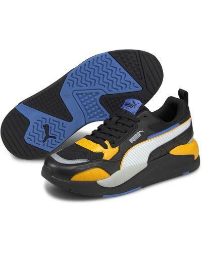 Черные кожаные спортивные кроссовки Puma