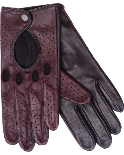 Кожаные перчатки бордовый красный Parola