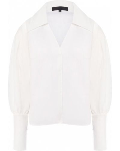Блузка с пышными рукавами белая Tegin