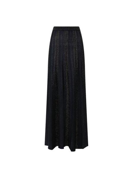 Плиссированная юбка макси синяя St. John
