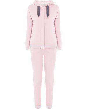 Теплый костюмный розовый домашний костюм с вышивкой Panicale