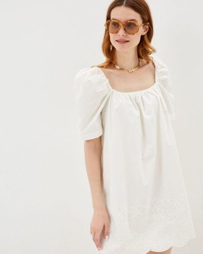 Прямое белое платье Sela