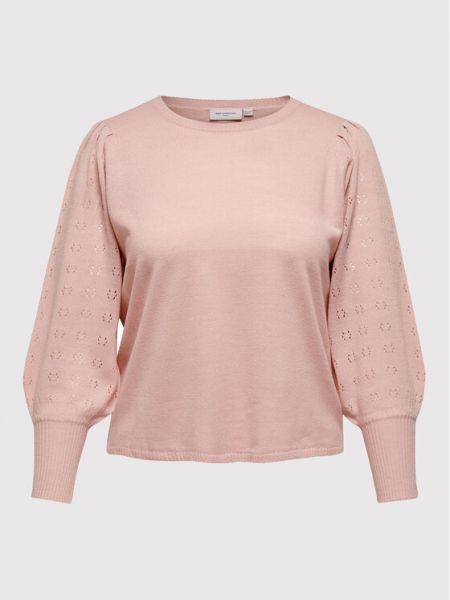 Sweter - różowy Only Carmakoma