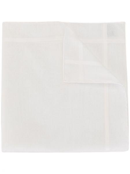 Хлопковый белый платок в полоску Hermes
