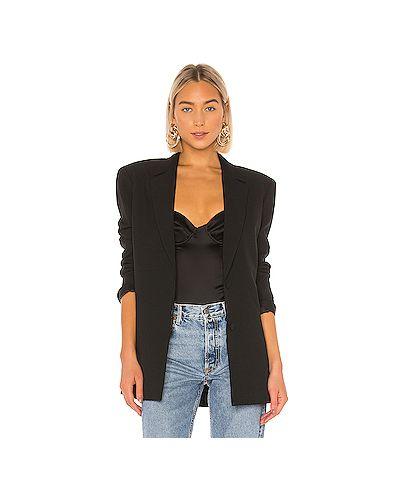 Черный пиджак с карманами из вискозы на пуговицах Grlfrnd