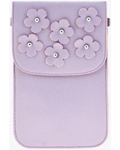 Кожаная сумка через плечо фиолетовый Mellizos